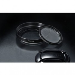 Fujifilm X20/X30 Lens Hood and Filter Kit - Black