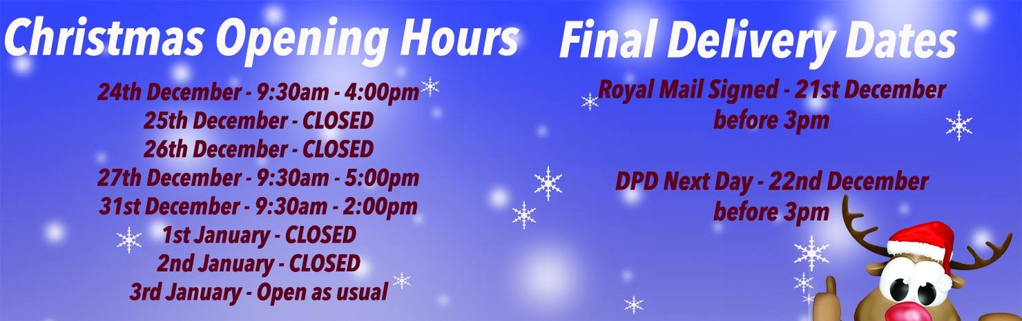 Xmas Hours and Delivery