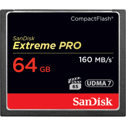 SanDisk Extreme PRO Compact Flash Memory Card 64GB