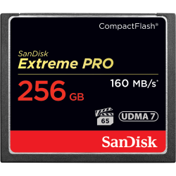 SanDisk Extreme PRO Compact Flash Memory Card 256GB