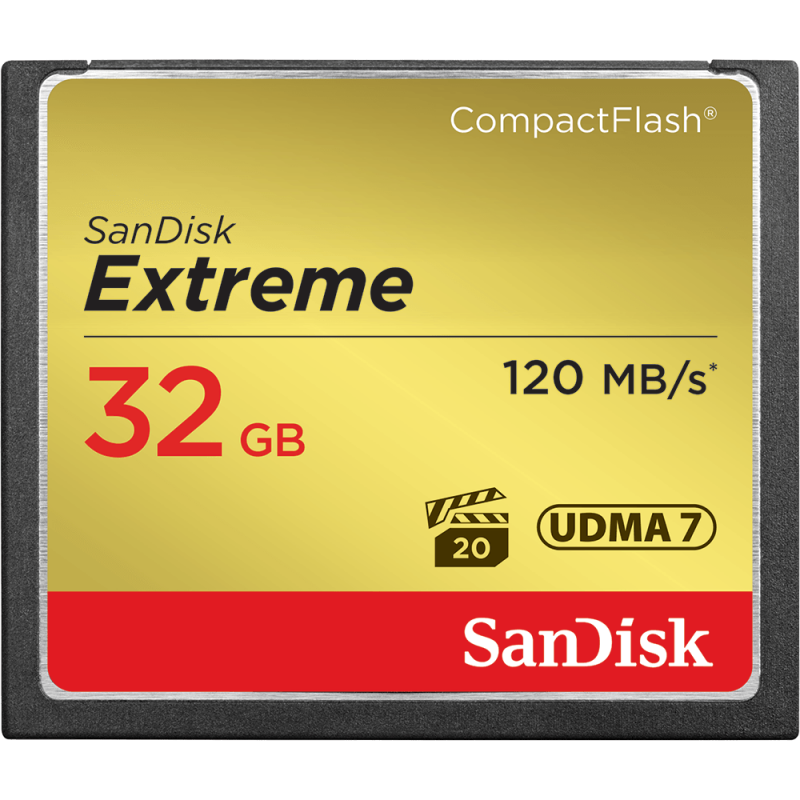 SanDisk Extreme Compact Flash Memory Card 32GB