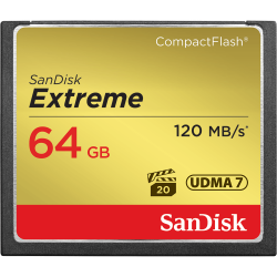 SanDisk Extreme Compact Flash Memory Card 64GB