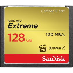 SanDisk Extreme Compact Flash Memory Card 128GB