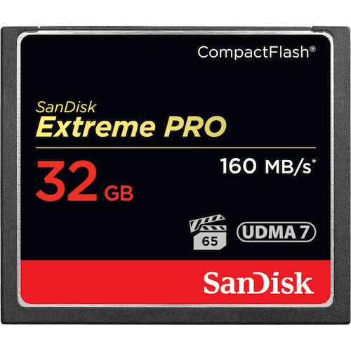 SanDisk Extreme PRO Compact Flash Memory Card 32GB