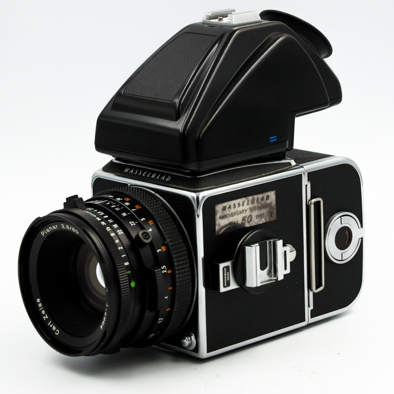 Used Hasselblad 500CM 50th Annivesary Outfit 50mm f2 8 A12 PM5 Finder