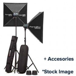 Used Elinchrom D-Lite RX ONE/ONE 2 Head Kit and accessories