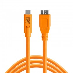 Tether Tools TetherPro USB-C to 3.0 Micro-B 15ft (4.6m) Orange Cable