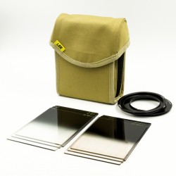 Used Lee Filters 100mm Bundle Including Hard ND Grad Set, Soft ND Grad Set, Field Pouch Sand, 77mm ring and 77mm W/A ring