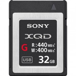 Sony 32GB G Series XQD Card - (Read 440MB/s and Write 400MB/s)