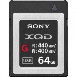 Sony 64GB G Series XQD Card - (Read 440MB/s and Write 400MB/s)