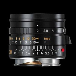 Leica 28mm f2 Summicron - M ASPH Lens black