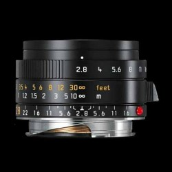 Leica 28mm f2.8 Elmarit - M ASPH Lens black