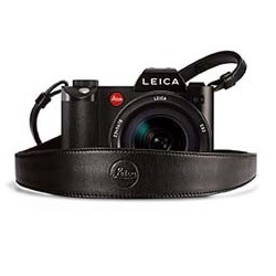 Leica SL Leather strap, black with shoulder section