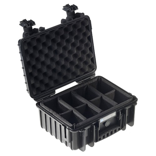 B&W International Type 3000 Outdoor Case - Black with dividers