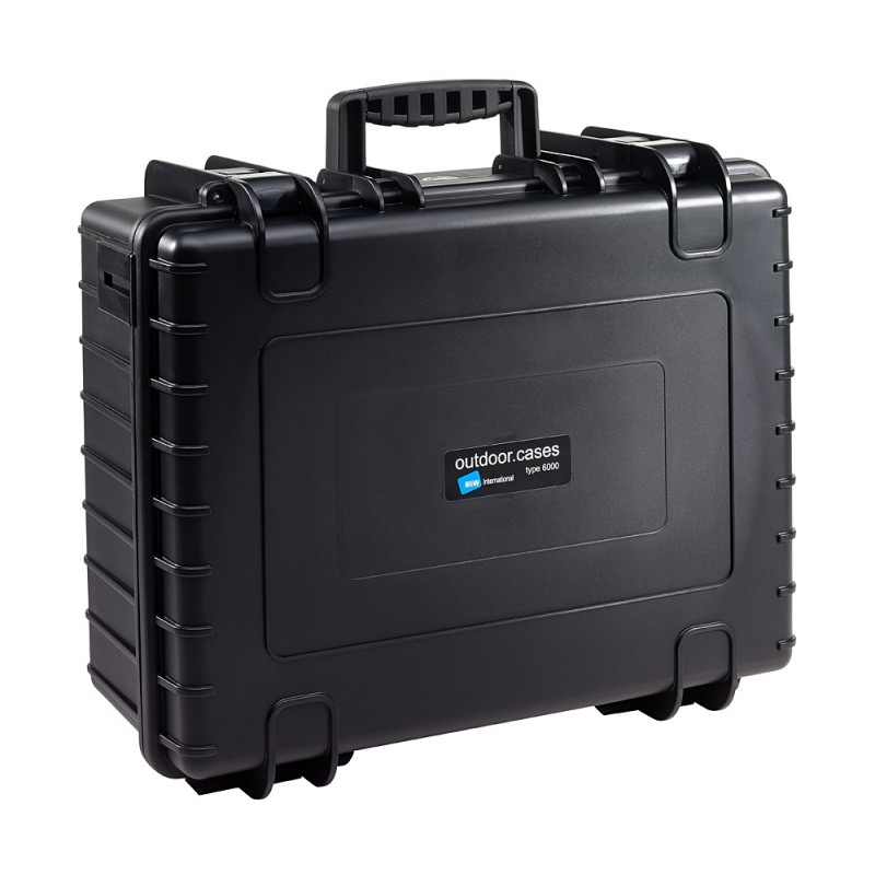 B&W International Type 6000 Outdoor Case - Black with dividers