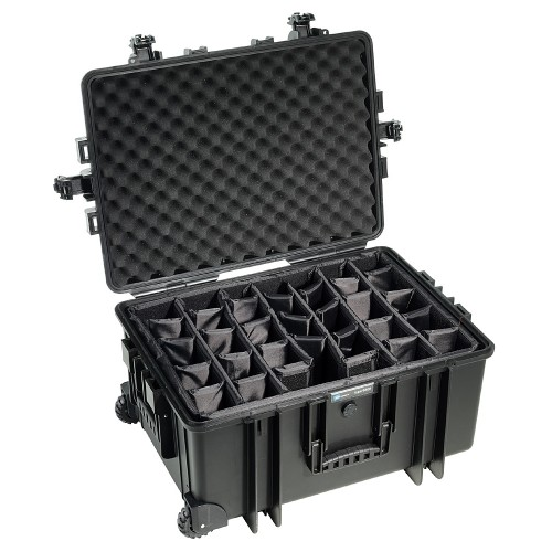 B&W International Type 6800 Outdoor Case - Black with dividers