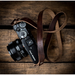 Hawkesmill Kensington Brown Leather Camera Strap